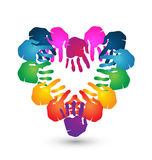teamwork-hands-heart-shape-logo-together-love-design-33931282 - Just because a child doesn't have special needs, doesn't mean they can raise themselves and that they don't need time with their parents.