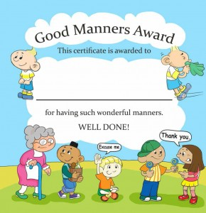 Good Manners Award from Manners Are…? — A New Book in the Series Autism Is…? by Ymkje Wideman-van der Laan
