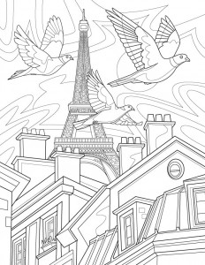 A page from - Birds of the World: Adult Coloring Book by Rémy Simard