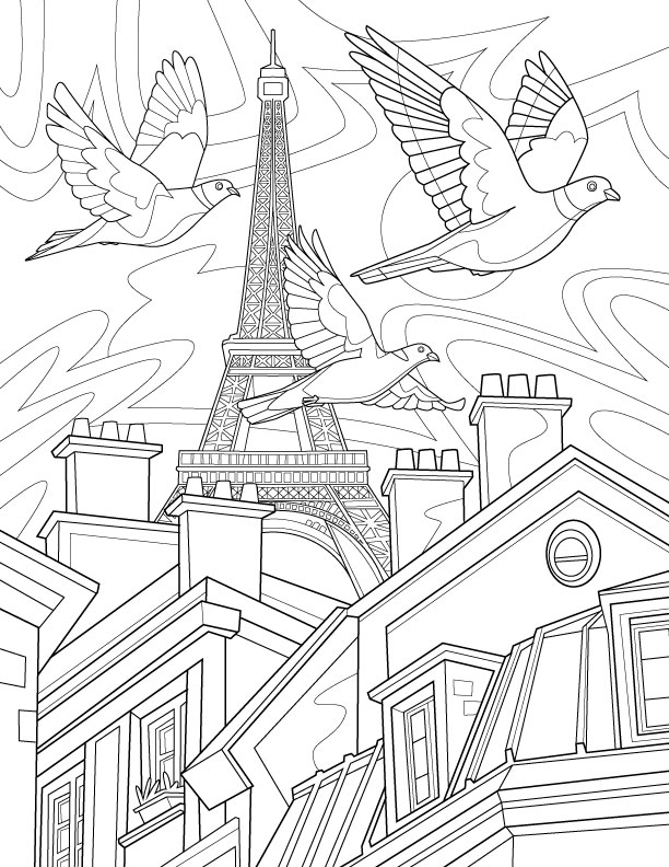 Stunning Paris Coloring Book Contemporary - awesomeessay.us ...