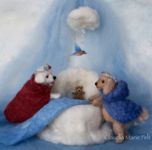 Prince Preemie A Tale of a Tiny Puppy Who Arrives Early. It is beautifully illustrated by Claudia Marie Lenart.