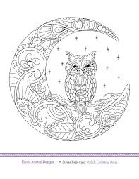 wise owl - Exotic Animal Designs: A Stress Relieving Adult Coloring Book by Katie Packer and Blue Star Coloring