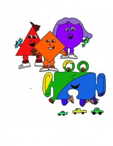 Puzzle Piece characters in Autism Book For Kids