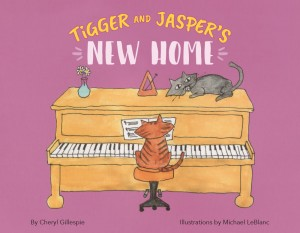 Tigger And Jasper's New Home by Cheryl Gillespie - Children's Book About Blindness -